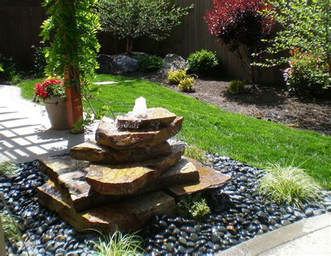 Small Backyard Water Feature Ideas Garden Water Fountains Ideas Home Also For Patio Images Pleasant Outdoor Savwi