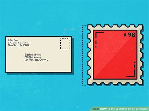 What Side Do Stamps Go On by 3 Ways To Put A Stamp On An Envelope Wikihow