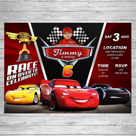 disney cars birthday invitations printable disney cars 3 birthday invitation cars 3 invite disney