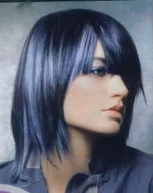 hair designs with grey streaks black hair with gray blue hair colors ideas