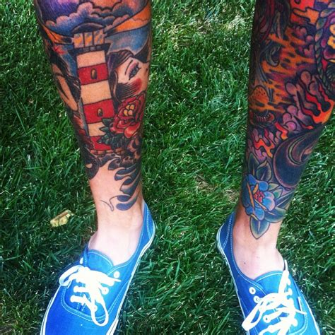 traditional tattoos leg tattoos leg sleeve tattoos