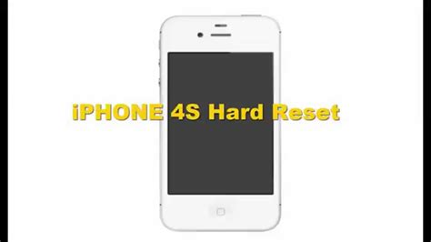 iphone 4s reset
