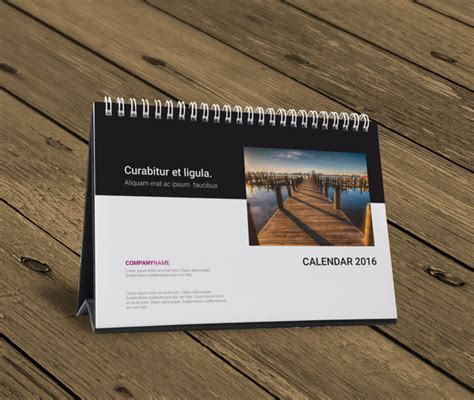 desk templates desk table tent calendar 2016 template design kb10 w12ok1