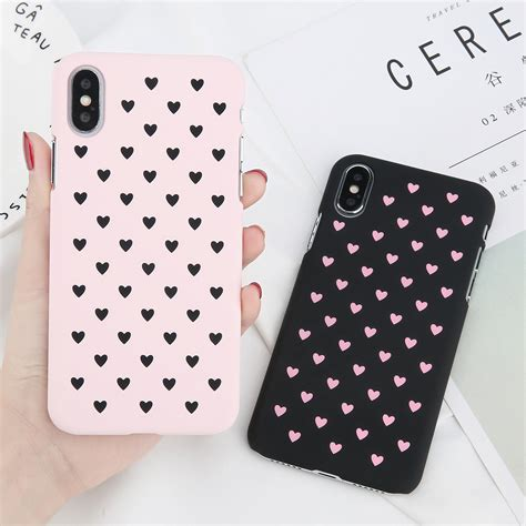 iphone xs max xr  cute love heart hard shockproof phone