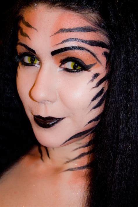 tiger goddess makeup  face painting makeup