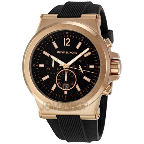 michael kors chronograph black black rubber s