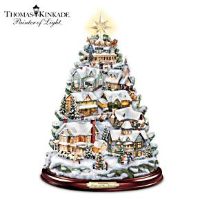 thomas kinkade christmas tabletop tree songs of the season