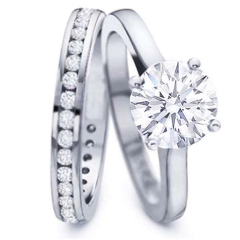 solitaire engagement rings with wedding band