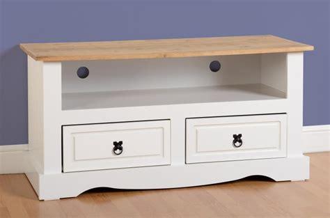 Corona White flat screen tv unit   White Corona Furniture   Flatpack2go.co.uk