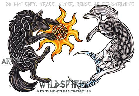 ragnarok wolves hati skoll by wildspiritwolf on deviantart