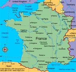 Map Of France by Sally Beeson