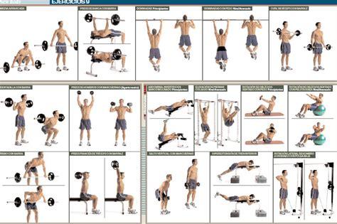 tabla de ejercicios con mancuernas 2015 para principiantes tabla barra pesas buscar con google gym pinterest