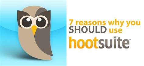 7 Reasons Why I Bullock by 7 Reasons You Should Use Hootsuite Thought Reach