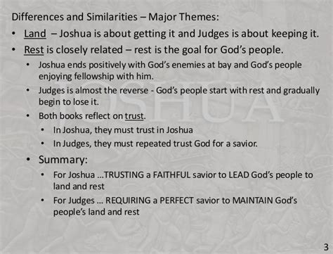 key themes book of joshua session 09 old testament overview joshua and judges