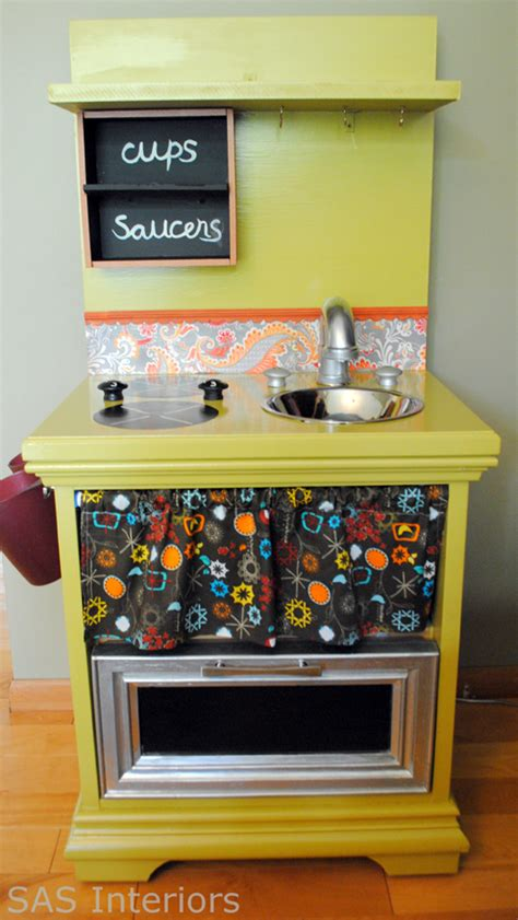 old furniture turned diy play kitchen roundup of awesome diy play kitchens more