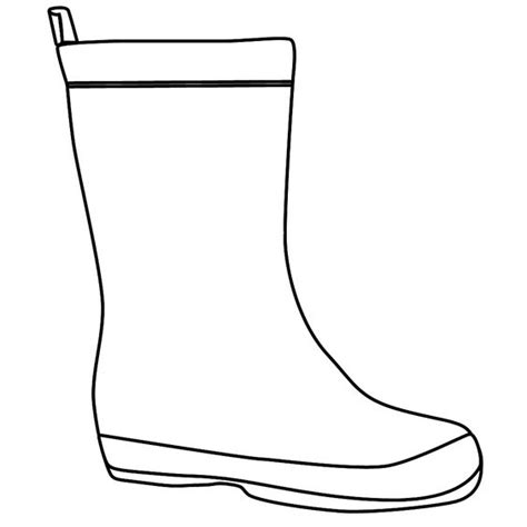 Boot Template by The Boot Kidz Outline Of Wellington Boot Stencil For