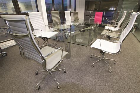 Glass Boardroom Tables Construct Multi Chrome Glass Boardroom Table Margolis
