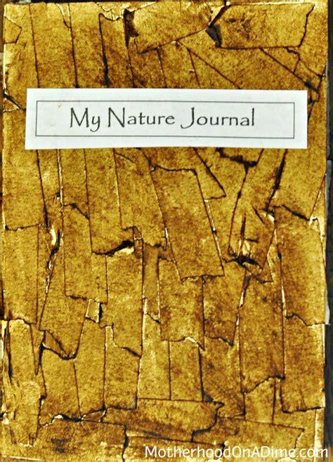 homemade nature journal  tree bark cover kids activities saving money home