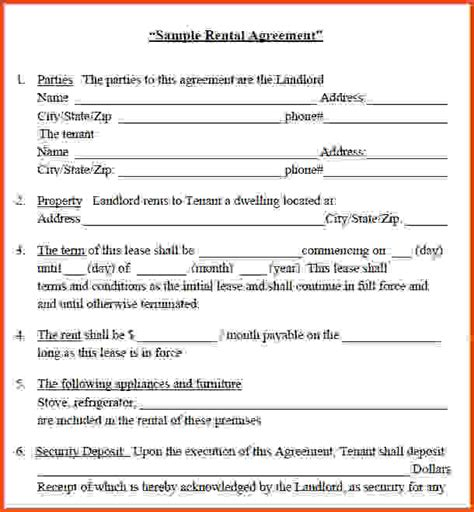house rental agreement house rent contract sle lease agreement form template lease agreement free