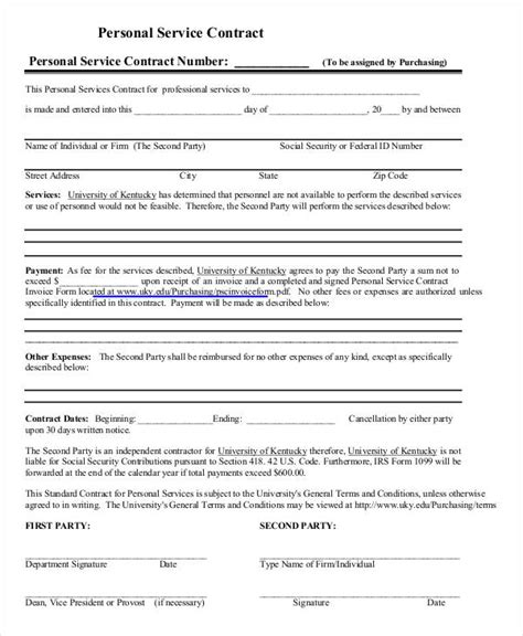 37 Basic Contract Templates Free Premium Templates Personal Contract Template