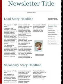 Business Newsletter Templates by Business Newsletter Template For Excel Pdf And Word