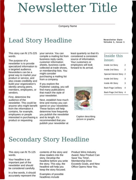 business newsletter template business newsletter template for free formtemplate