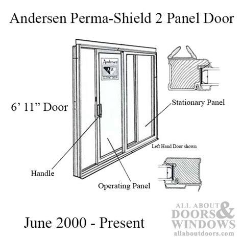 andersen perma shield lh gliding patio door lowe4 glass sliding door interlocking weatherstrip sliding