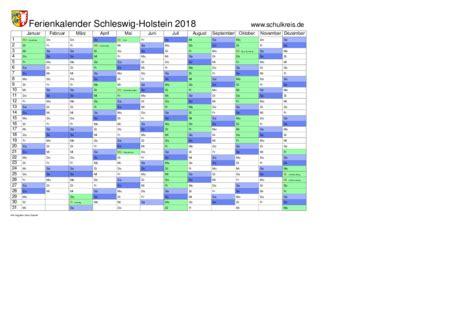 schulkreis de schulferien kalender schleswig holstein sh