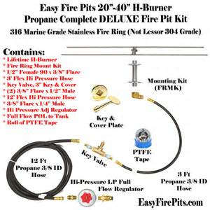 propane pit parts h30ck 30 x 7 h burner complete deluxe propane