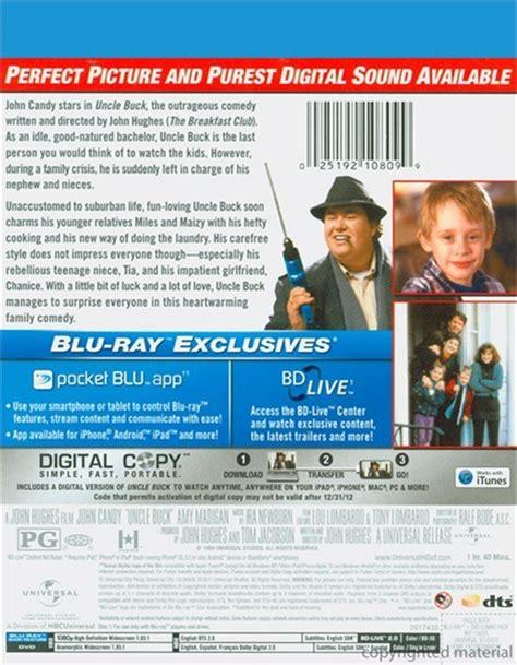 on dvd blu ray copy reviews uncle buck blu ray dvd digital copy blu ray 1989
