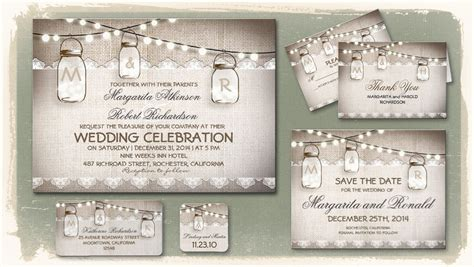 mason jar wedding invitations gangcraft net