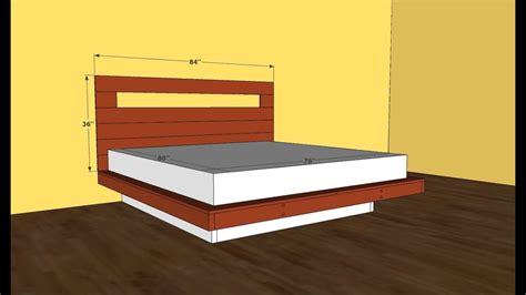 platform bed frame plans youtube