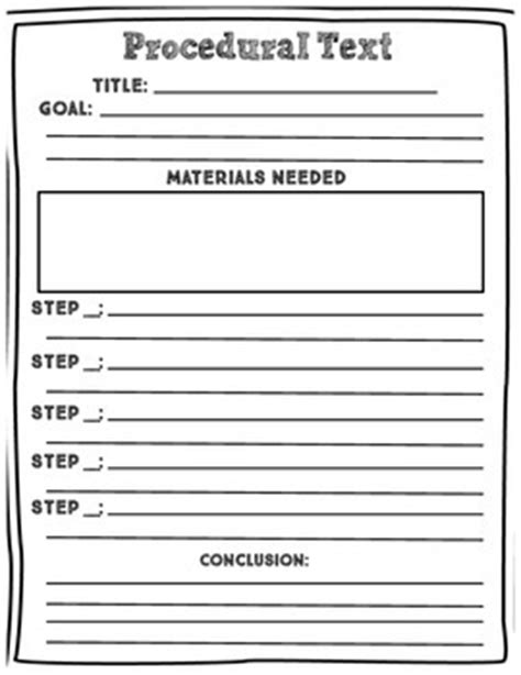 procedural writing template grade 1 procedural text graphic organizer by ms cheuka s creative