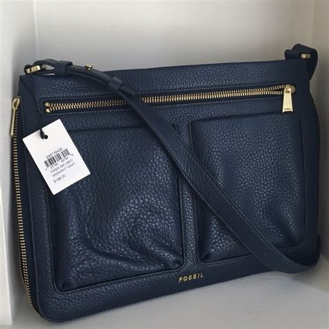 New Original Fossil Kendall Crossbody Small Black 44 fossil handbags fossil piper small crossbody midnight navy blue from s closet on