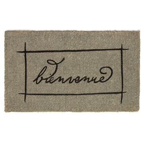 Bienvenue Doormat by Doormat Designs Bienvenue Grey Box Doormat
