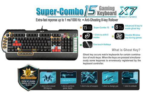 Keyboard Gaming A4tech X7 G800v Jual A4tech X7 G800v Keyboard Gaming Macro Hans Computer