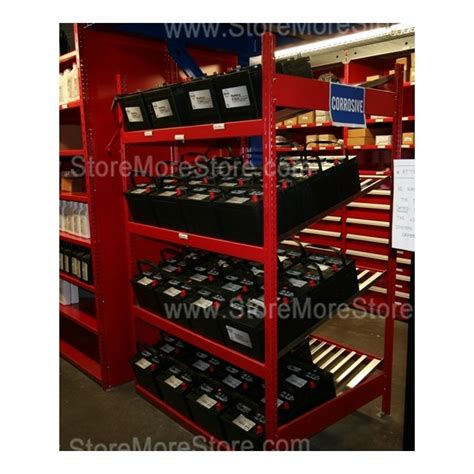 Batteries Shelf by Battery Display Storage Rack With Slanted Battery Shelves