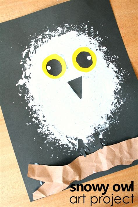 Snowy Owl Papercraft Museum - snowy owl winter craft for fantastic learning