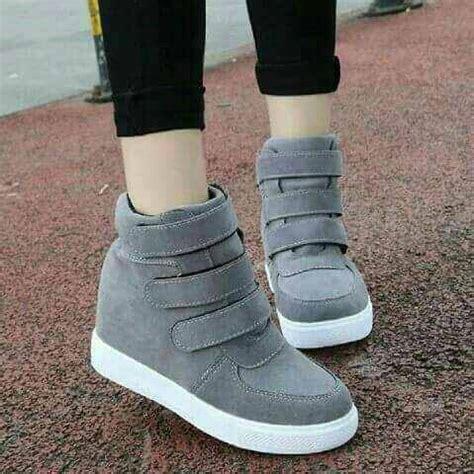 Korea Sepatu Pria Wanita Abu Abu by Jual Sepatu Boots Korean Valery Abu Sepatu Wanita Velcro