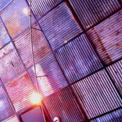corrugated metal ceiling tiles surfaces