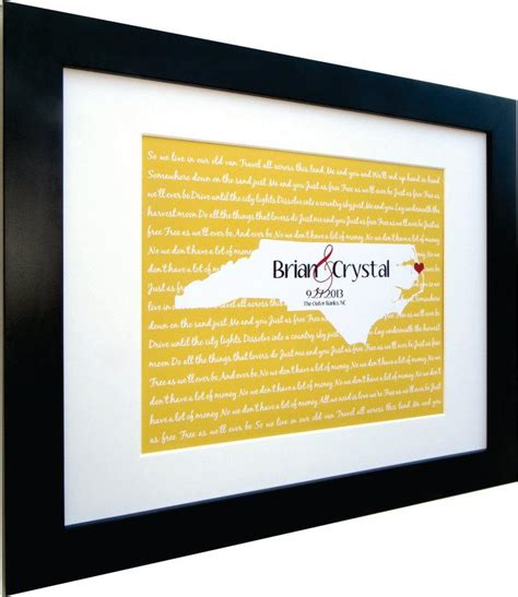 Wedding Song Lyrics Gift by Wedding Lyrics Song Map Wall Personalized Gift Any
