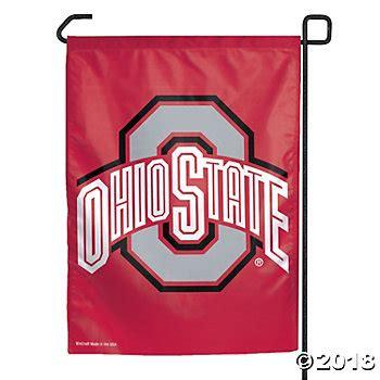 ohio state football colors ncaa 174 ohio state college football garden flag