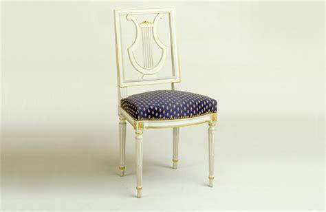 chaise louis xvi lyre meubles hummel