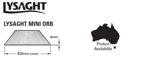 Buy Lysaght Mini Orb Colorbond Zincalume Sheeting Cladding Steel Sheds in Australia