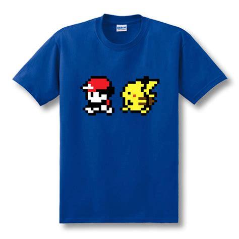 Tshirt Pikachu30 aliexpress buy new ash and pikachu t shirts sleeve anime mens
