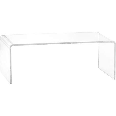 Clear Plastic Coffee Table Peekaboo Clear Coffee Table Cb2