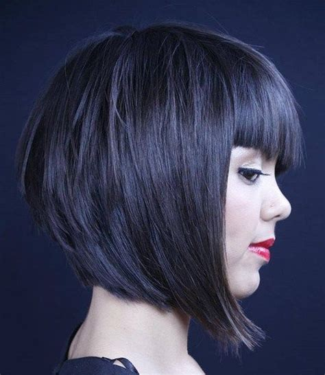 inverted bob hairstyles with fringe trendy inverted bob hairstyles short hairstyles 2018