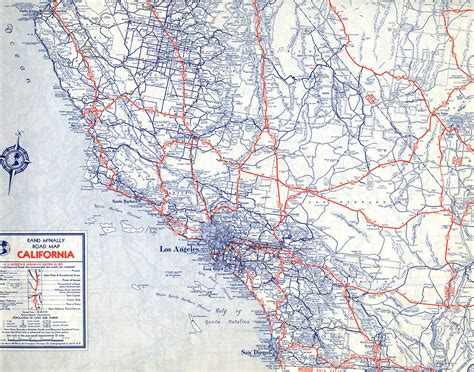 highway map of california the lost u s highways of southern california history kcet