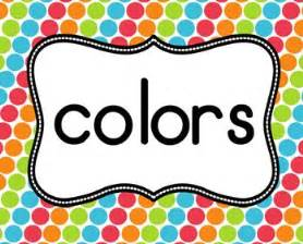 color word color posters beginning of the year