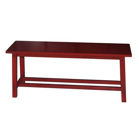 red entryway bench shop decor therapy kyoto red indoor entryway bench at